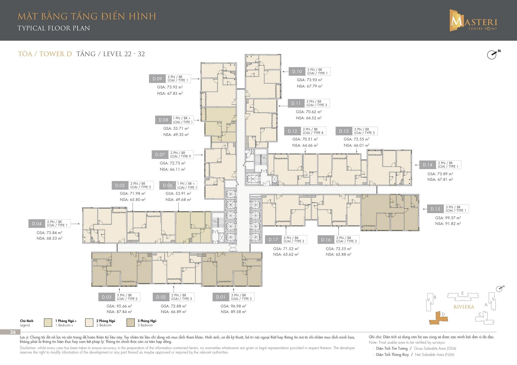 Tầng 22-32 Block D Masteri Centre Point