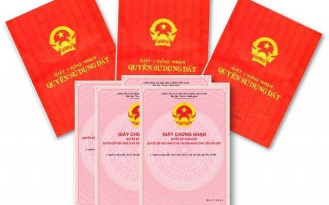 Giay Chung Nhan Quyen Su Dung Dat Va Tai San Gan Lien Tren Dat